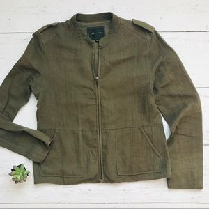 SANCTUARY Soft Recruit Jacket in Brown Olive
